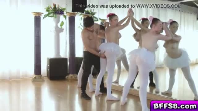 The Ballerinas blowjob their instructor